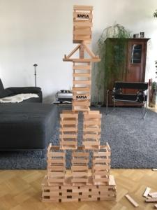 Großer Turm aus KAPLA 280 Steinen