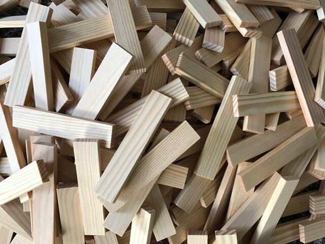 Großer Haufen KAPLA 280 Holzbausteine