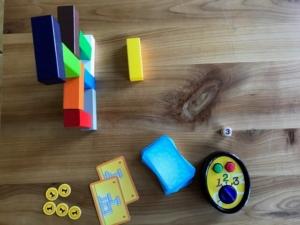 Make 'N' Break Turm aus Bauklötzen und Timer