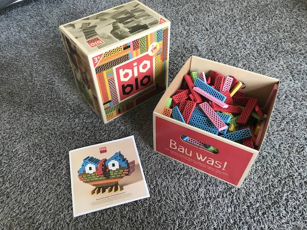 Bioblo Bausteine Carry Box geöffnet