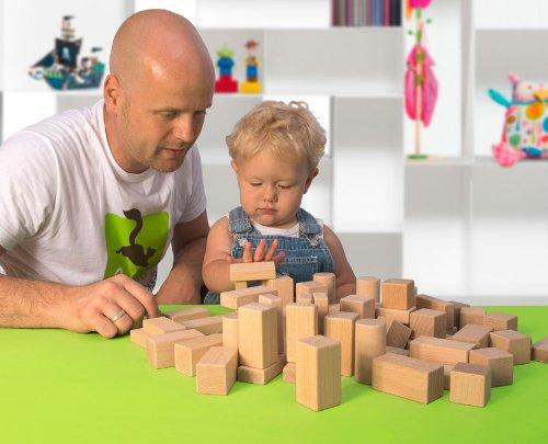 CreaBLOCKS Holzbausteine Kleinkindpaket - 54 unbehandelte Bauklötze ab 6 Monate, Holzbauklötze für Kleinkinder und Babys, Holzklötze - 2