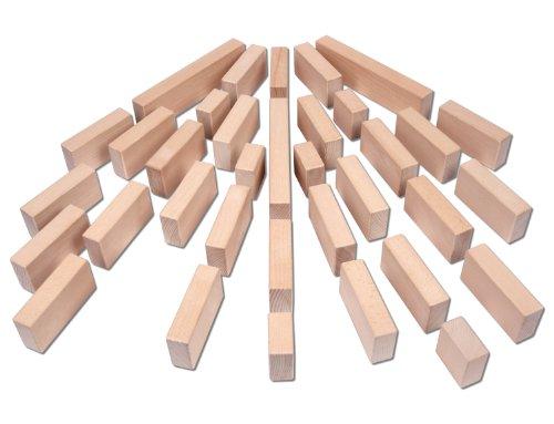 CreaBLOCKS Riesenbauklötze-Set 36 Große Holzbausteine inkl. Holzkiste, unbehandelte Bauklötze made in Germany - 4