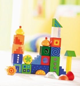Haba Bausteine - Fantasiesteine, bunte Bauklötze für Kleinkinder