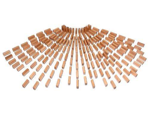 Holzbausteine Ergänzungspaket Basissteine (180 unbehandelte Bauklötze) - 4