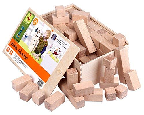 Holzbausteine Ergänzungspaket dicke Quader (87 Bauklötze) - 1