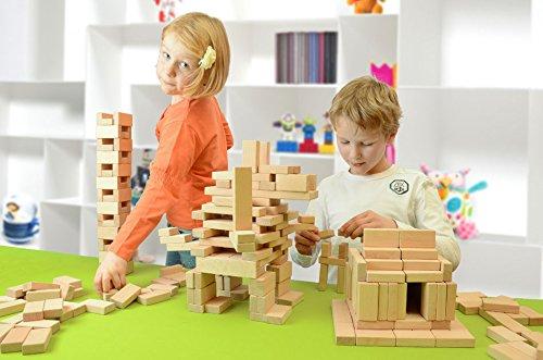 Holzbausteine Großes Grundpaket (244 Bauklötze unbehandelt) - 3