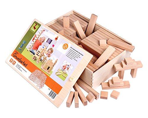 Holzbausteine Großes Grundpaket (244 Bauklötze unbehandelt) - 1