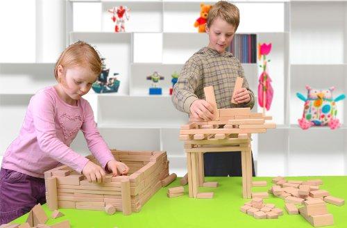 Holzbausteine Großes Komplettpaket (360 Bauklötze) inkl. Aufbew.-Kiste - 2