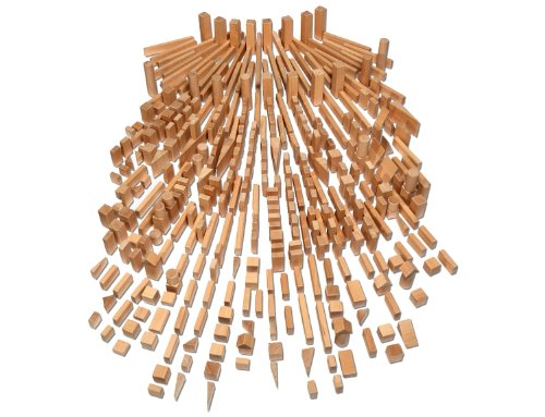 Holzbausteine Großes Komplettpaket (360 Bauklötze) inkl. Aufbew.-Kiste - 6