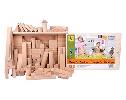 Holzbausteine Großes Komplettpaket (360 Bauklötze) inkl. Aufbew.-Kiste - 7