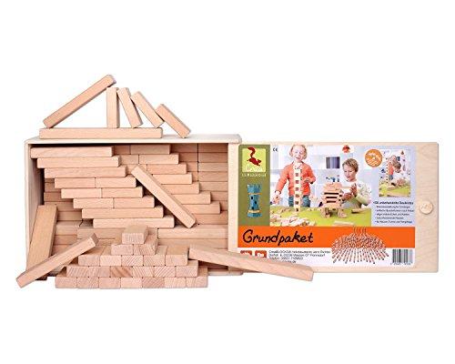 Holzbausteine Grundpaket (156 Bauklötze unbehandelt) - 2