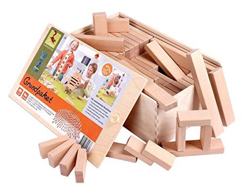 Holzbausteine Grundpaket (156 Bauklötze unbehandelt) - 1