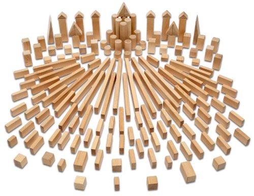 Holzbausteine Komplettpaket (164 Bauklötze unbehandelt) Holzbauklötze Made in Germany - 5