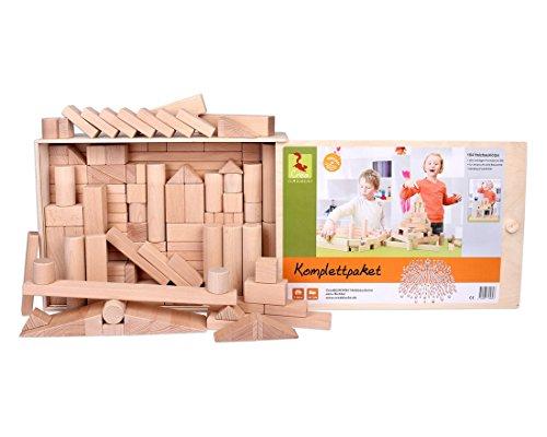 Holzbausteine Komplettpaket (164 Bauklötze unbehandelt) Holzbauklötze Made in Germany - 6
