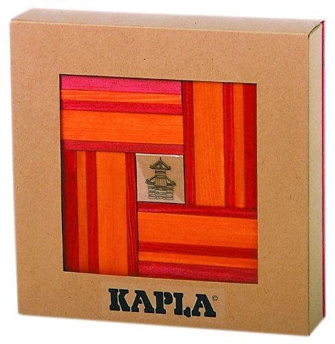 KAPLA 40 Steine, rot und orange + Buch - 1
